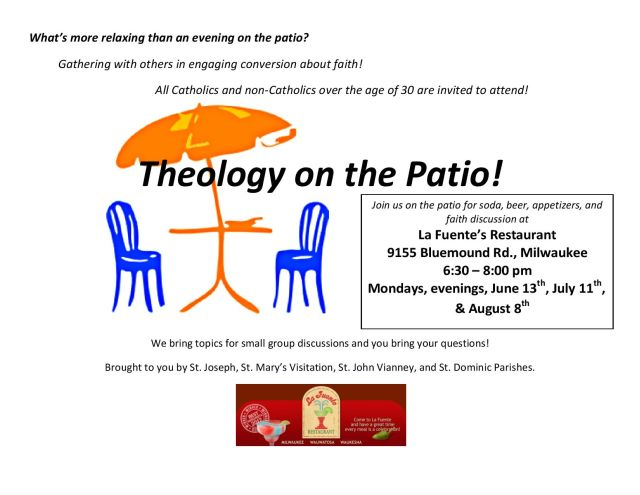 Theology On The Patio Flyer