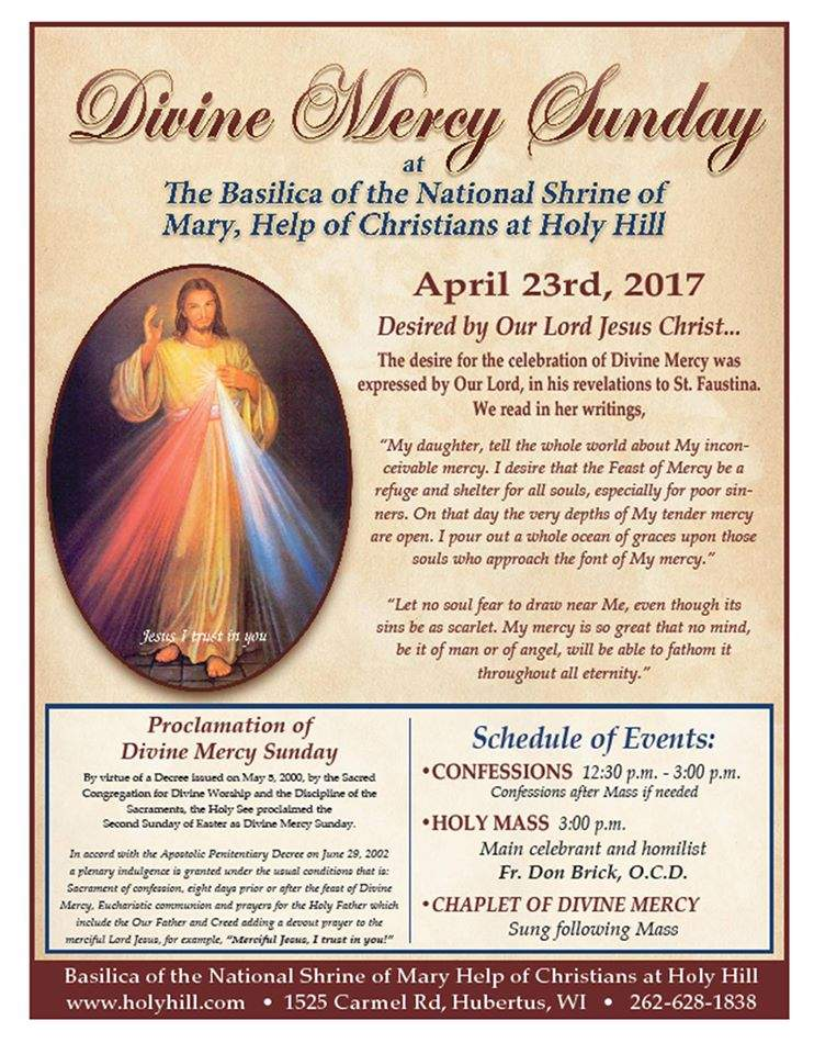 Divine Mercy Sunday 2017